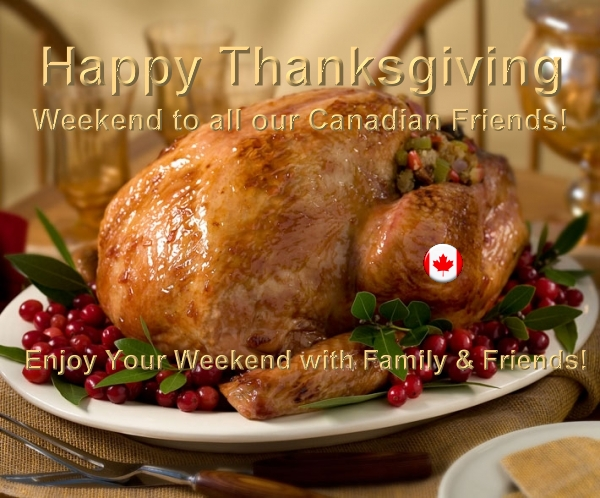 Thanksgiving weekend Canada